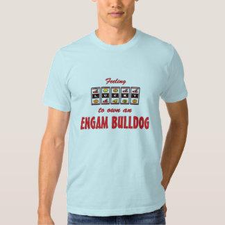 Afortunado a propio un diseño del perro de la camiseta