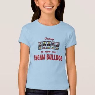Afortunado a propio un diseño del perro de la camisetas