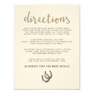 Afortunado en direcciones del amor invitación 10,8 x 13,9 cm