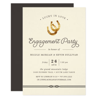 Afortunado en la invitación del fiesta de