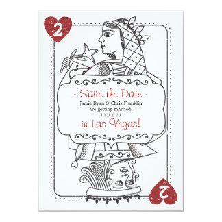 Afortunado en reserva del amor la fecha - 2 de invitación 11,4 x 15,8 cm
