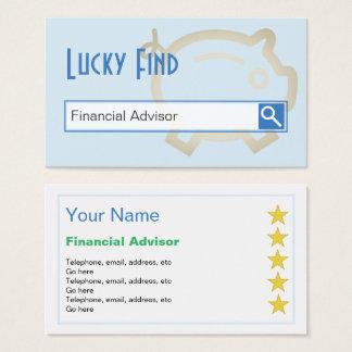 """""""Afortunado encuentre"""" las tarjetas de visita"""
