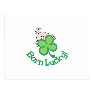 ¡Afortunado nacido! Postal