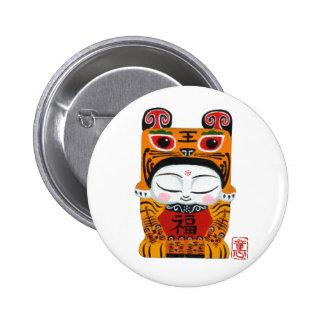 afortunado-tigre-bebé chapa redonda 5 cm