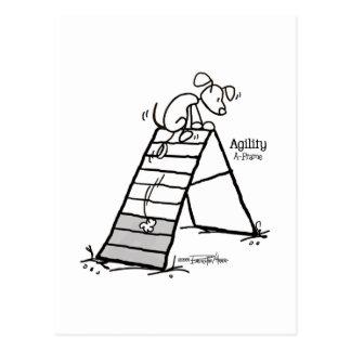 Aframe: Dibujo animado del perro de la agilidad - Postal
