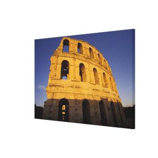 África, Túnez, EL Jem. Ruinas de 3 romanos Impresion En Lona