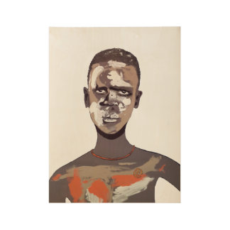 african make up 2 poster póster de madera
