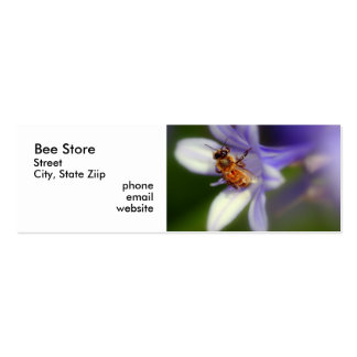 africanus del agapanthus, tienda de la abeja, plantilla de tarjeta de visita