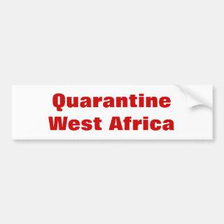 Áfricas occidentales de la cuarentena pegatina para coche