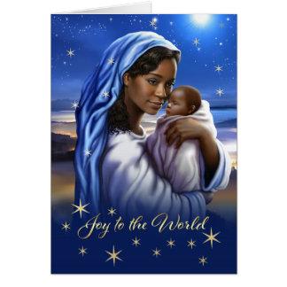 Afroamericano Madonna y tarjetas de Navidad del