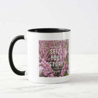 Agarre su historia taza de cerámica combinada de