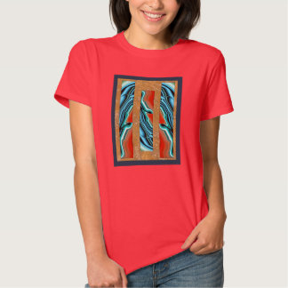 Ágata azul Intarsia Camisetas