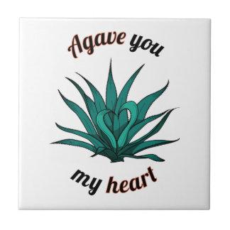 agavo usted mi corazón azulejo
