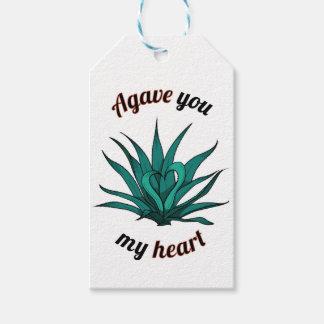 agavo usted mi corazón etiquetas para regalos
