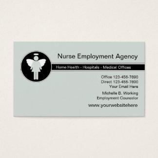Agencia de colocación médica tarjeta de visita