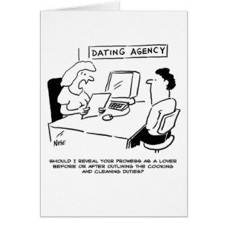 Agencia de datación - valor como amante tarjeta de felicitación