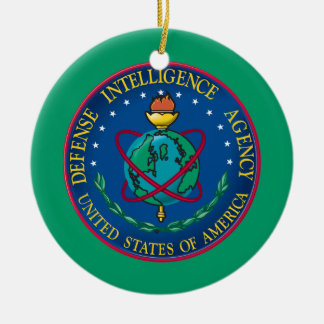Agencia de Inteligencia para la Defensa Adorno Navideño Redondo De Cerámica