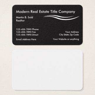 Agencia de títulos de propiedades inmobiliarias tarjeta de negocios