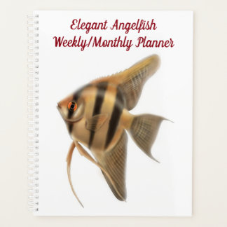 Agenda Angelfish de agua dulce Plann mensual semanal del