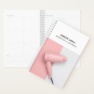Agenda Estilista color de rosa elegante del secador de