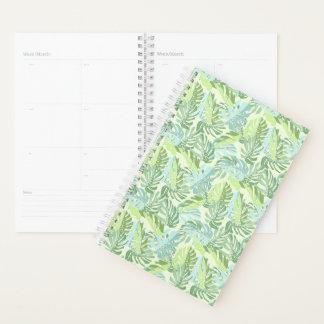 Agenda Hojas de palma tropicales en colores pastel