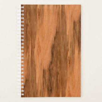 Agenda Mirada de madera del grano del eucalipto natural