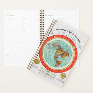 Agenda Nuevo mapa estándar de la tierra plana Earther del