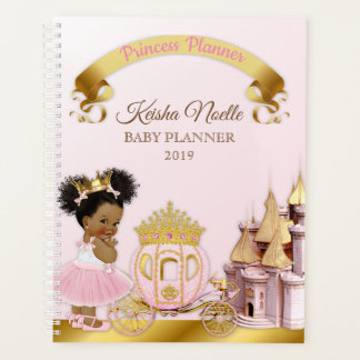 Agenda Oro real de princesa Castle Carriage Girl Pink