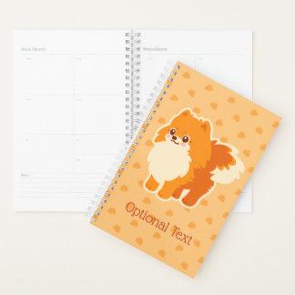 Agenda Perro del dibujo animado de Kawaii Pomeranian