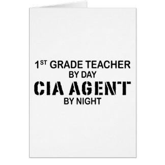 AGENTE DE LA CIA POR LA NOCHE - 1r GRADO Tarjeta De Felicitación