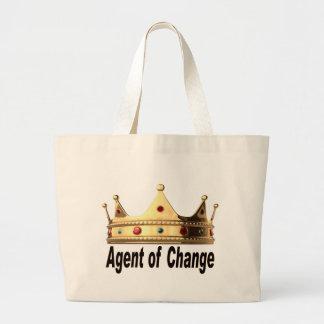 Agente del cambio bolso de tela gigante