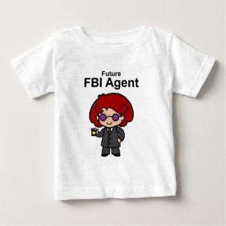 Agente del FBI futuro para ella Camiseta De Bebé