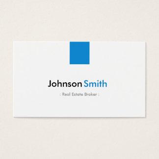 Agente inmobiliario - aguamarina simple azul tarjeta de negocios