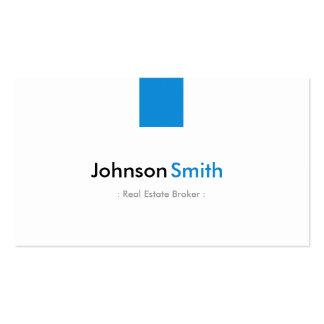 Agente inmobiliario - aguamarina simple azul plantilla de tarjeta personal
