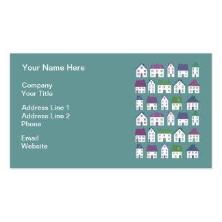 Agente inmobiliario bonito de los iconos de la cas plantilla de tarjeta de visita