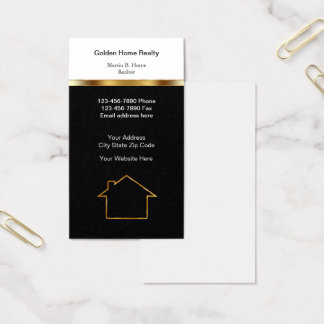 Agente inmobiliario casero con clase tarjeta de visita