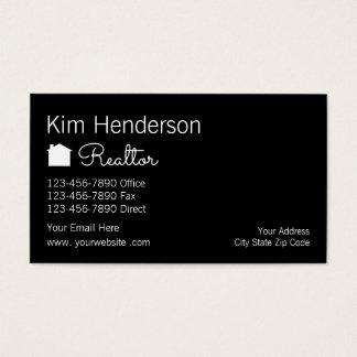 Agente inmobiliario con clase Businesscards Tarjeta De Negocios