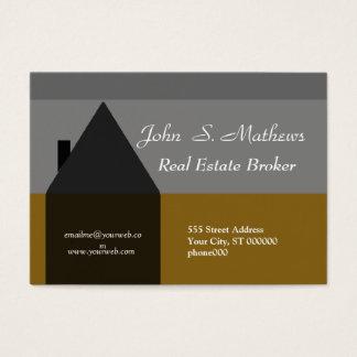 Agente inmobiliario con clase de las ventas de tarjeta de negocios