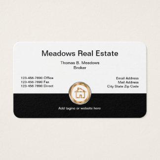 Agente inmobiliario con clase tarjeta de visita