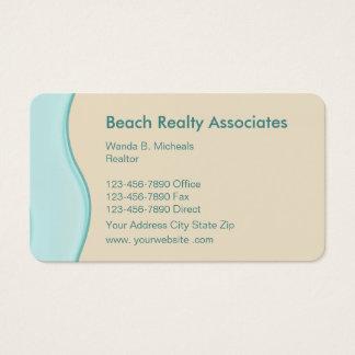 Agente inmobiliario de la playa - escénico tarjeta de negocios