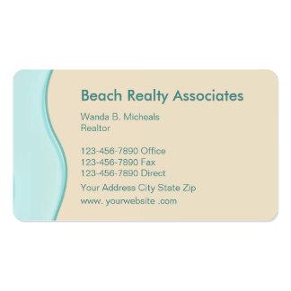 Agente inmobiliario de la playa - escénico tarjetas de visita