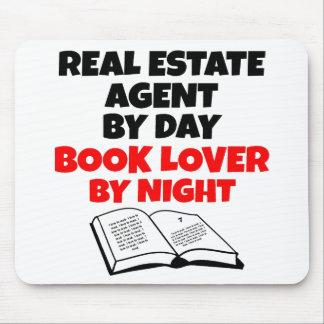 Agente inmobiliario del aficionado a los libros alfombrilla de raton