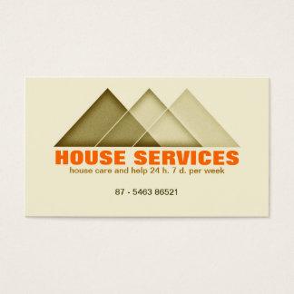 agente inmobiliario del mantenimiento de la tarjeta de negocios