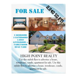 Agente inmobiliario moderno de las propiedades folleto 21,6 x 28 cm