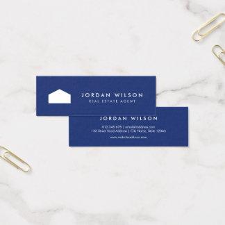Agente inmobiliario moderno del azul y de la Casa Tarjeta De Visita Mini