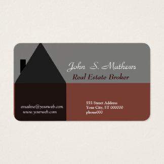 Agente inmobiliario profesional de la arquitectura tarjeta de negocios