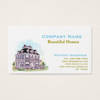 Agente inmobiliario, remodelado y arquitectura tarjeta de visita