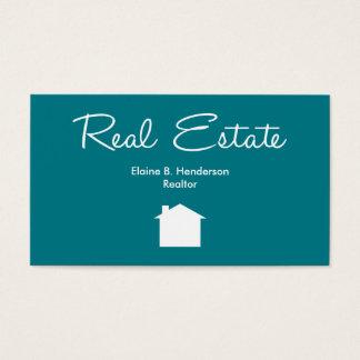 Agente inmobiliario simple tarjeta de negocios