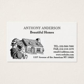 Agente inmobiliario tarjeta de visita