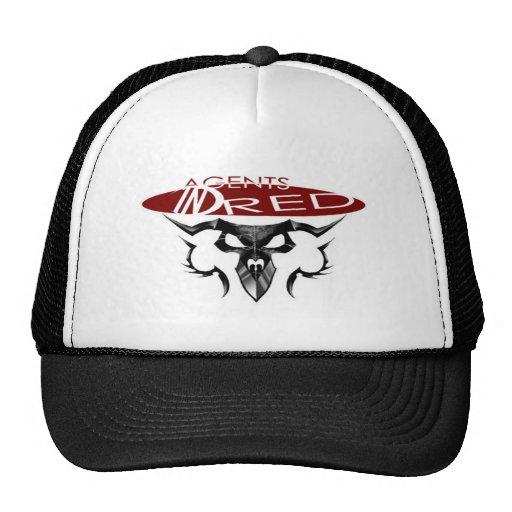 Agentes en gorra del cráneo de Red Bull